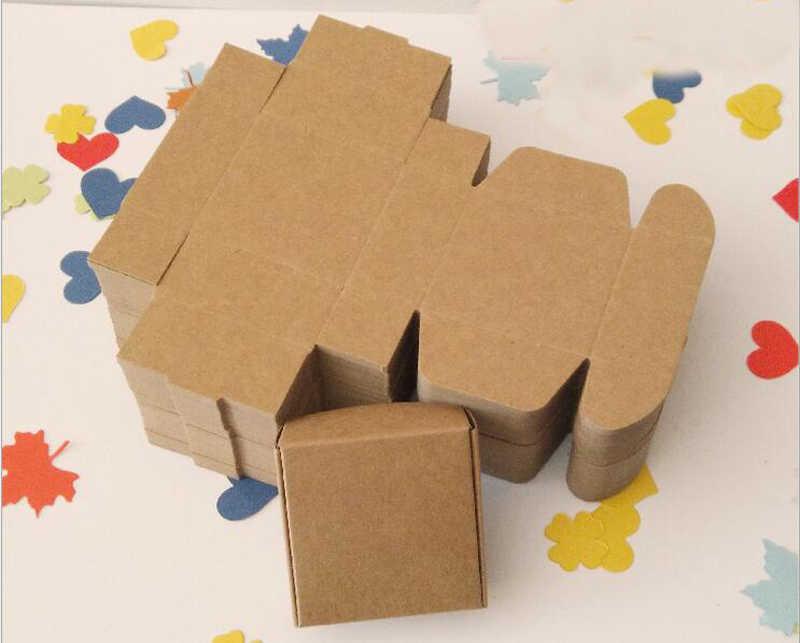 10 قطع براون كرافت ورقة مربع علب تغليف هدايا عيد هدية مربع للمجوهرات/الحلوى/نساء مجوهرات الزفاف عرض صناديق