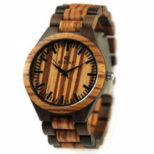 2017 new fashion men's wooden watch pure wooden strap business casual creative simple waterproof quartz watch