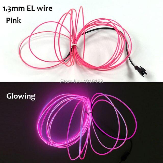 1,3mm (5 Meter) El drahtseil schlauch LED Neon Gewinde Licht Mit DC ...