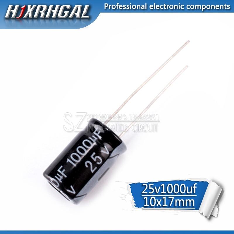 10PCS Higt Quality 25V1000UF 10*17mm 1000UF 25V 17*10 Electrolytic Capacitor Hjxrhgal