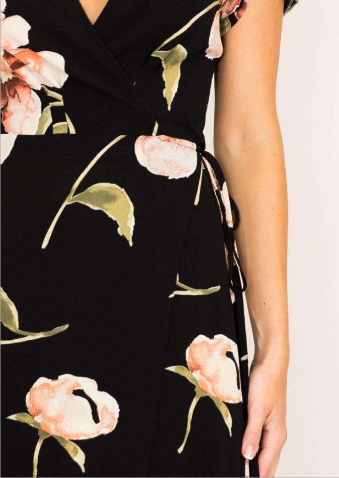 Women flower print sexy long dress Summer Maxi Dress Women Floral Print Dress V-Neck Beach Dresses Hot sale