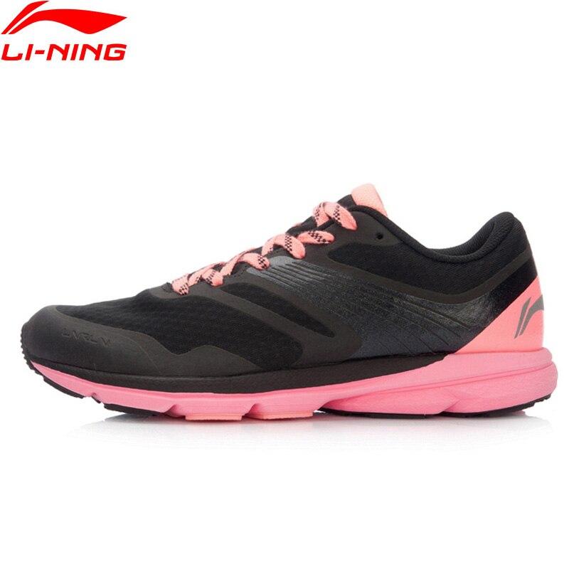Li-ning femmes Rouge lapin 2016 chaussures de course amorti sans puce poids léger baskets doublure chaussures de Sport ARBK086 XYP445