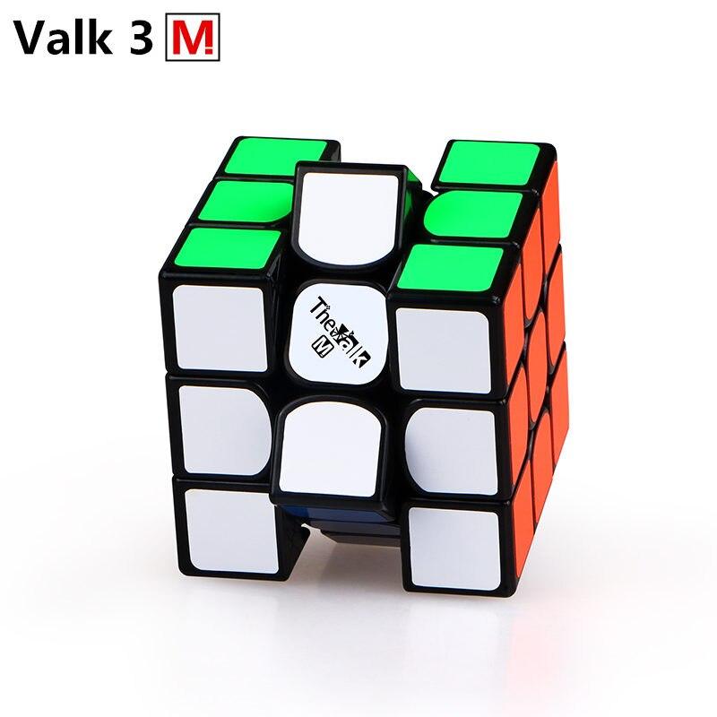 Nova QiYi Valk3 M 3x3x3 Magnética Ímãs Enigma Valk 3 M Stickerless Velocidade Cubo Mágico Profissional cubos de Valk 3 M