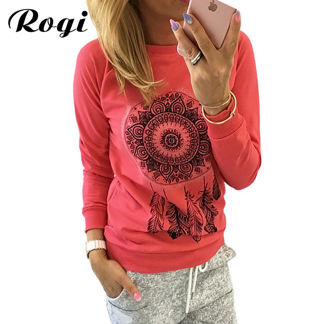 Rogi Women Pullovers Sweatshirt 2017 Casuall Print Hoody Jumper ...