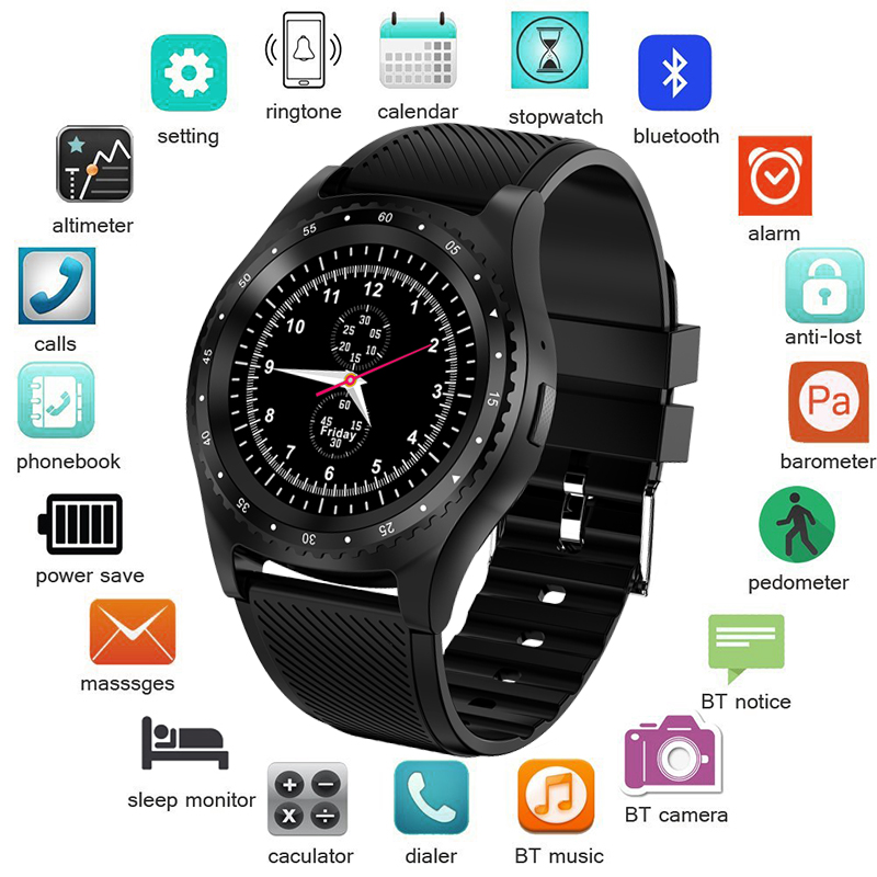 LIGE <font><b>2019</b></font> <font><b>New</b></font> <font><b>Smart</b></font> <font><b>Watch</b></font> Men WristWatch Support With Camera Bluetooth SIM TF Card Smartwatch Women For Android Phone reloj+Box image