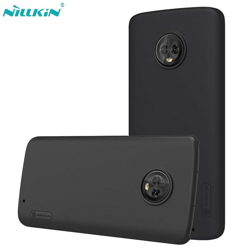 NILLKIN Super Frosted Shield Phone Case for Motorola MOTO G6 Plus Luxury Hard PC Matte Back Cover for MOTE G6 Plus Case Fundas