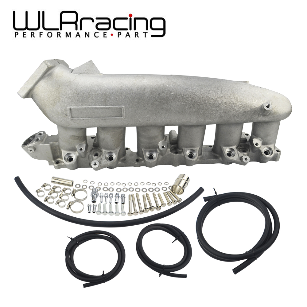 WLR RACING - Cast Aluminum INTAKE MANIFOLD FOR Nissan 240SX RB25det RB25 Skyline R32 R33 R34 1989- 1998 WLR-IM32SL rb25de rb25 engine turbo h beam forge connecting rod for r32 r33 r34 nissan gt r skyline rb25det engine motorsports racing cars