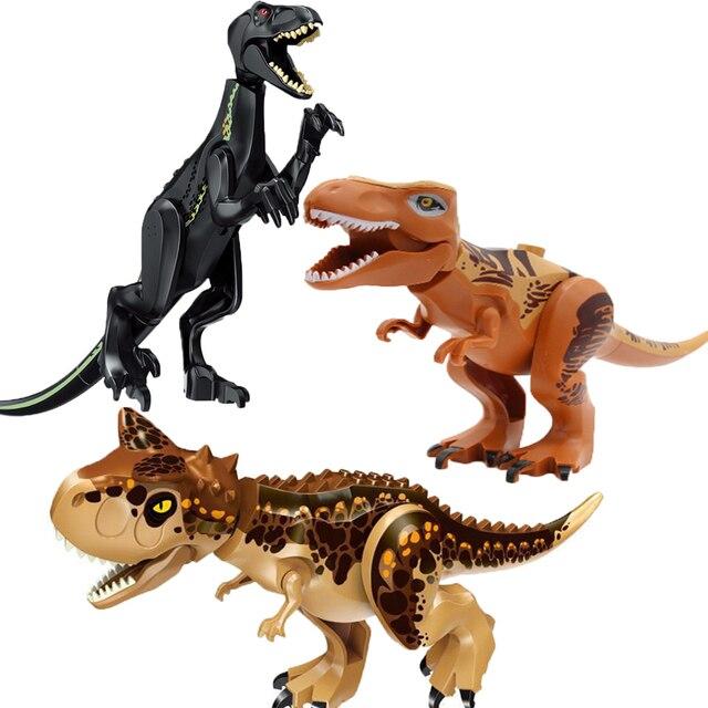 Legoingly Polar Bear Jurassic Carnotaurus Toys Blocks Brinquedo Dinossauros Building Blocks Set Educational Toys for Children