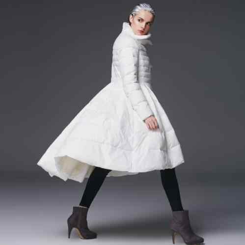 Новинка; модная зимняя одежда Для женщин юбка Пуховик Стиле первоклассные брендовые Белое пуховое пальто юбка стиль в наличии 3 цвета