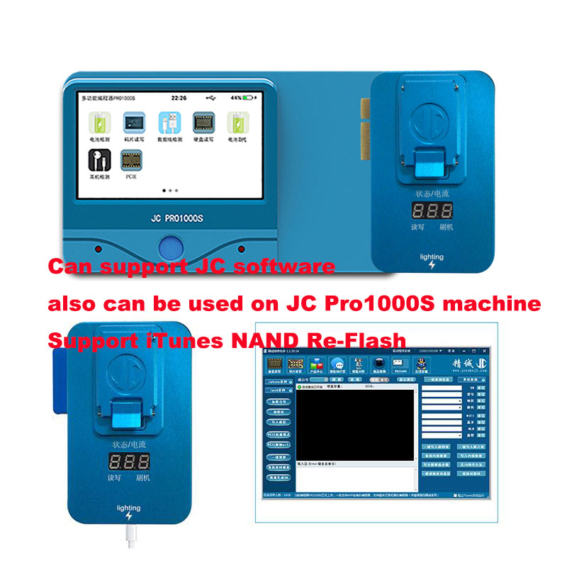 Image 3 - JC Pro1000S PCIE NAND Programmer Test Fixture for iPhone 8 8P 8 plus  X Error Repair Tool Memory Upgrade Serial SN Read Write-in Integrated Circuits from Electronic Components & Supplies