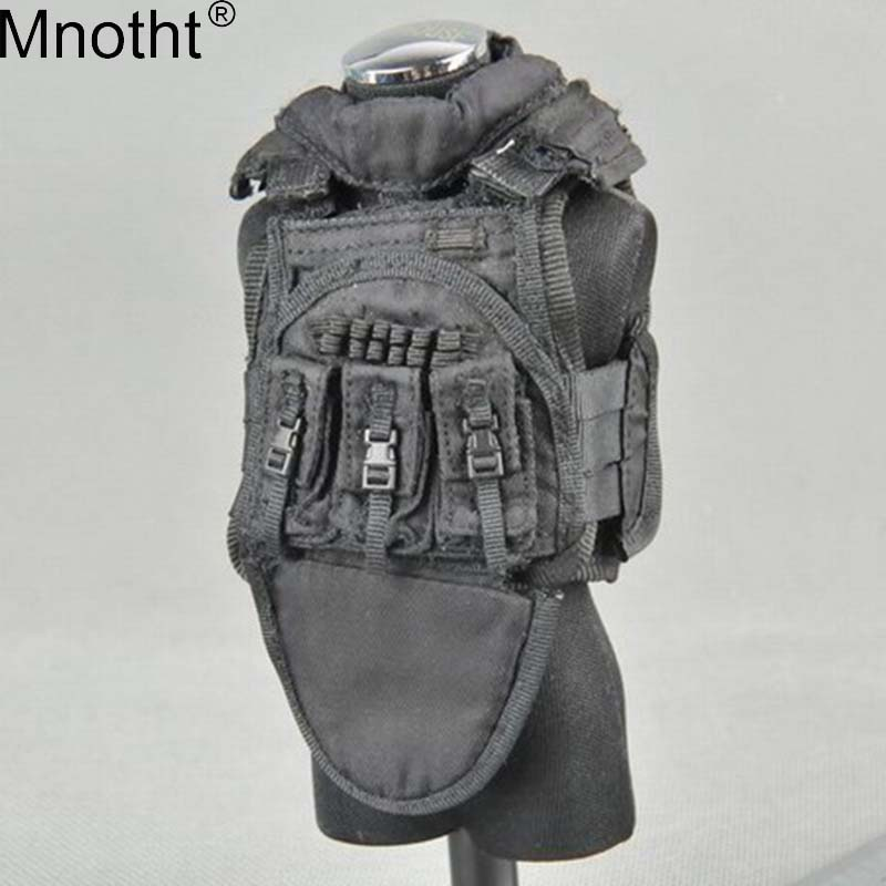 Mnotht 1/6 Scale Male Model Black Tactical Vest Special Forces Toy For 12