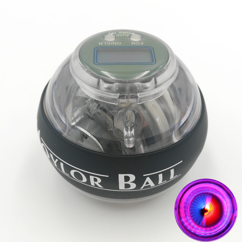 Auto start LED Power Wrist Ball with Speed Counter Strengthen Gyroscope Forearm Hand Spinner Force Gyro Ball for Muscle Relax A