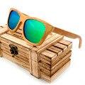 BOBO PÁSSARO Handmade Óculos Polarizados 2017 Popual Projeto Quadro De Bambu Com Caixa De Madeira Bonito Eyewear oculos Óculos de Sol das Mulheres