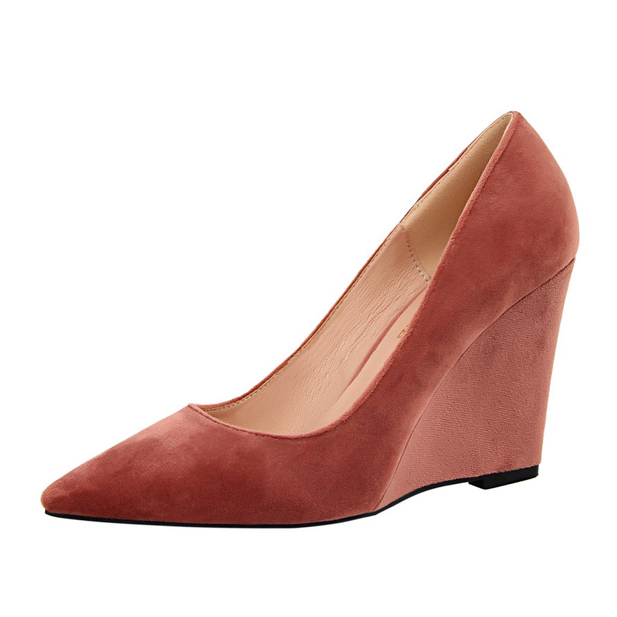 Shoes High-Heeled Pointed Summer Fashion And Slope Spring with Suede Shallow Mouth Sexy