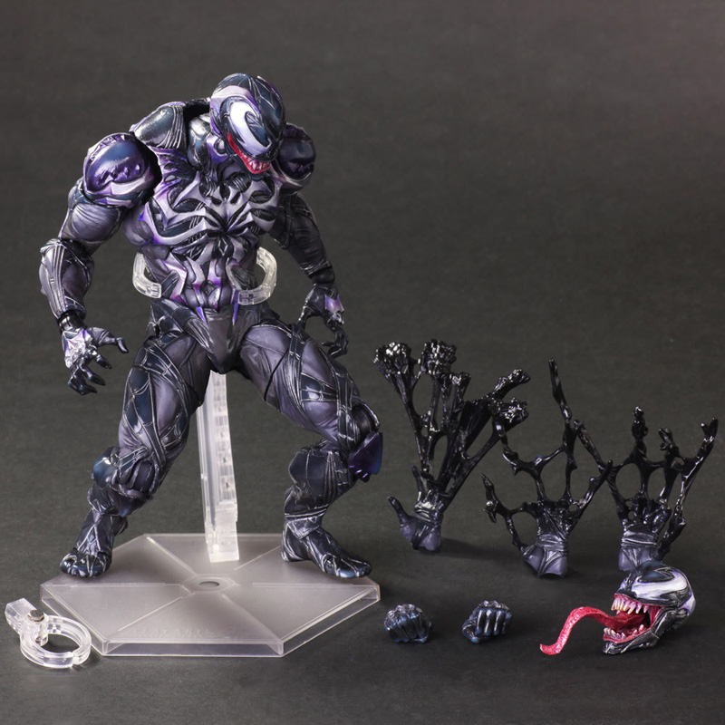 Venom Amazing Spiderman Play Arts Kai Pvc Action Figure 25CM Anime Spider Man Colletion Model Figurine Kids Toy for Children boy