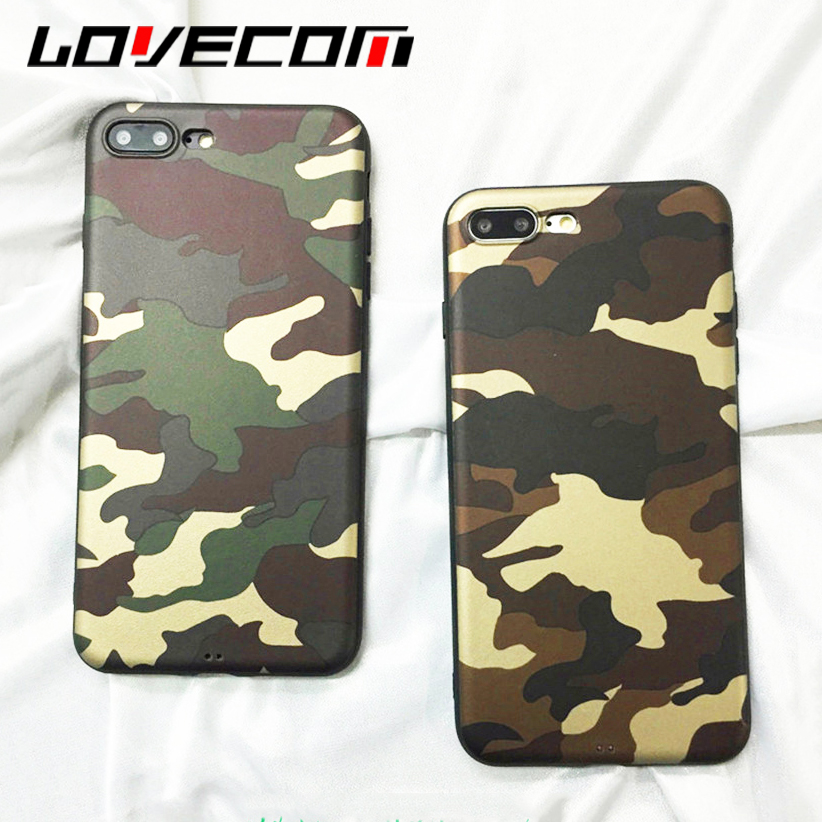 LOVECOM Phone Case For iPhone 6 6S 7 8 Plus X Hot Armor Camouflage Colors Full Body Soft TPU Phone Back Cover Cases New Coque