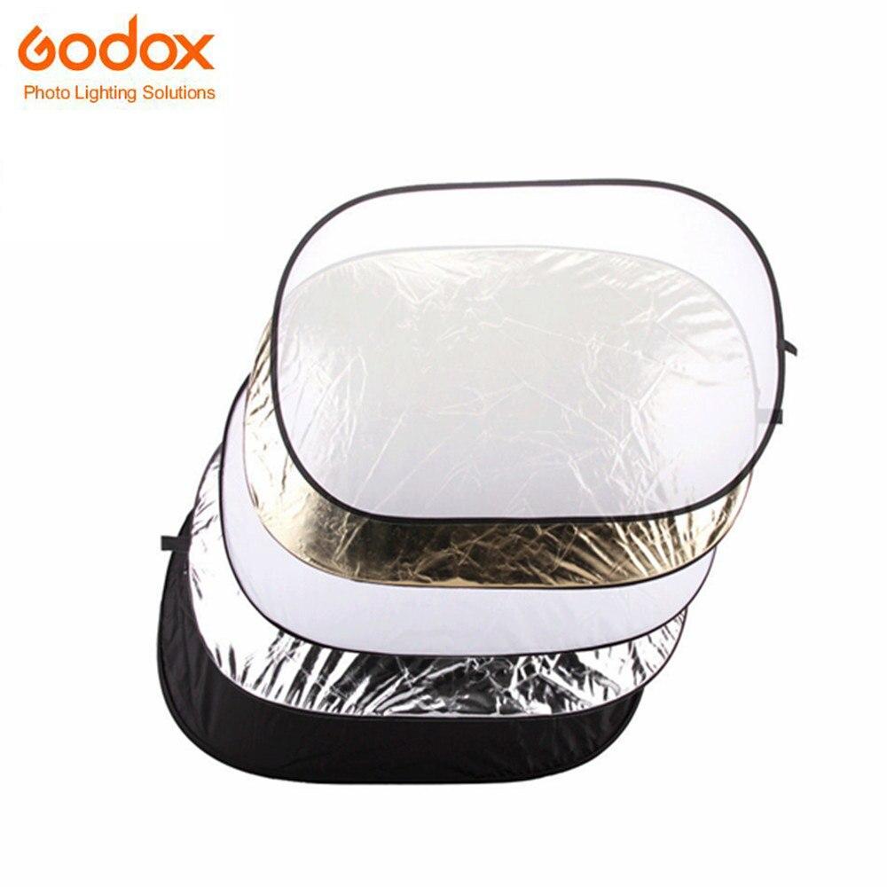 Godox 5-en-1 80x120 cm Rond Portable Réflecteur Rectangle Pliable Lumière Pour Studio de Photographie