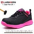 Розовая защитная обувь; женская Строительная обувь; безопасные рабочие ботинки; Легкая женская обувь со стальным носком