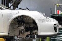 Автомобиль Интимные аксессуары углерода Волокно OEM Стиль спереди над крыло Колеса крышкой Flare 4 шт. подходит для 2004 2012 911 997 переднее крыло всп
