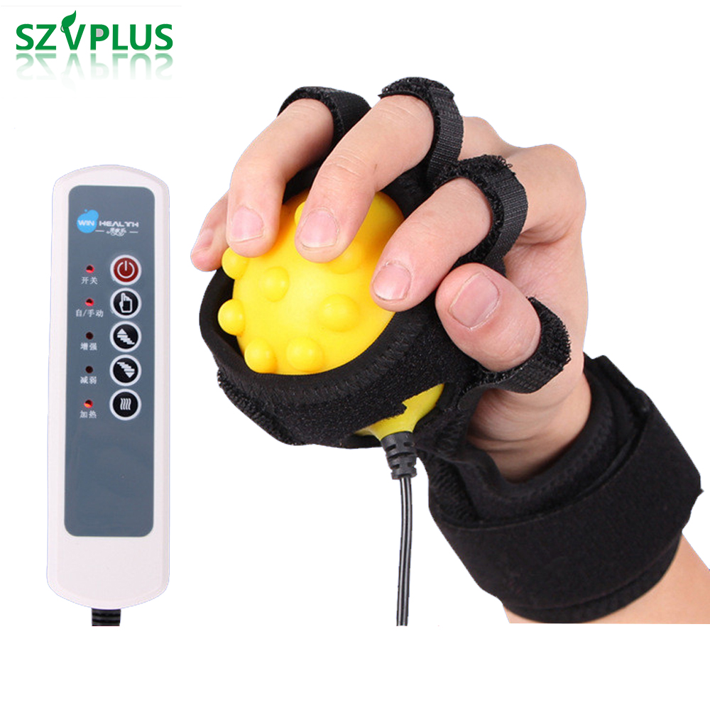 Infrared Hand Finger Spasm Rehabilitation Hot Compress Ball Massager wrist finger flexion correction Passive Training Dystonia