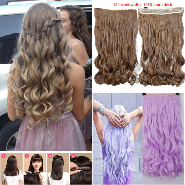 Newly design one piece long curlcurlywavy clip in hair extension newly design one piece long curlcurlywavy clip in hair extension clip pmusecretfo Images
