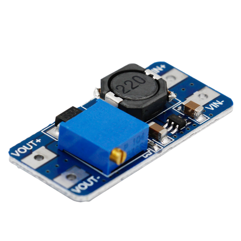 MT3608 DC-DC 2A Adjustable Max Boost Module Step Up Module 2V - 24V to 5V 9V 12V 28V 30%off dc dc adjustable boost module 2a boost plate 2a step up module with micro usb 2v 24v to 5v 9v 12v 28v