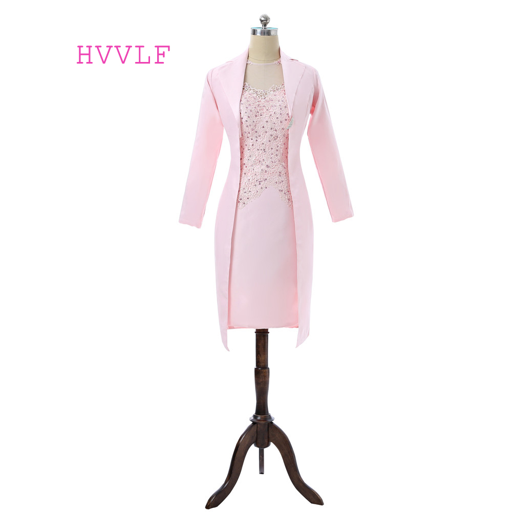 RELATED PRODUCTS. Rating  (0). Pink 2018 Mother Of The Bride Dresses Sheath  Knee Length With Jacket Lace Beaded Groom Plus ... 868b4cd22775