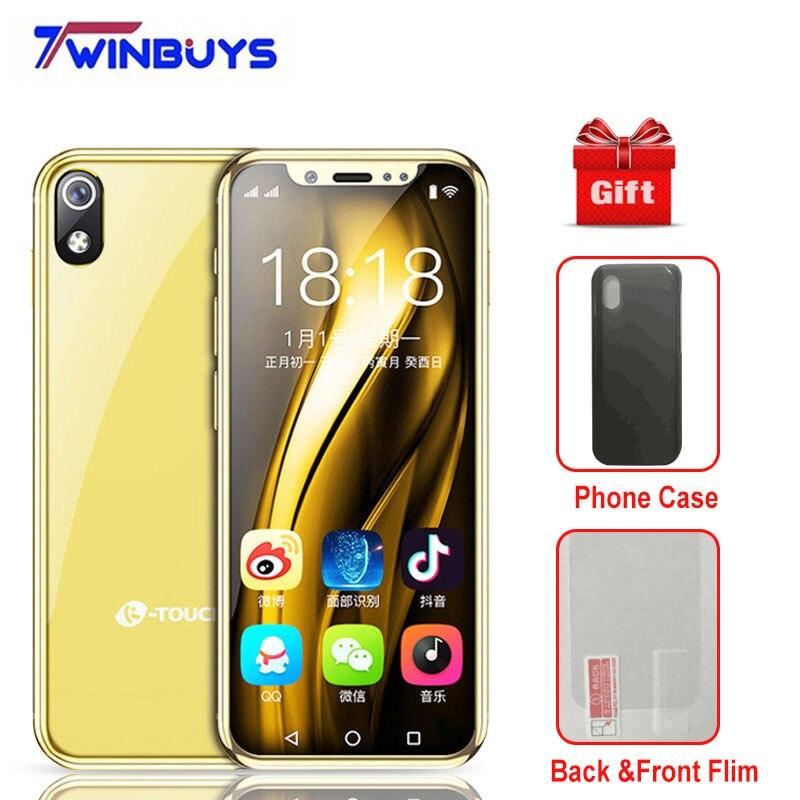 "2019 Kleinste Smartphone Android 8.1 K-touch I9 3g 32g/2g 16g Gesicht Id 3,5 ""quad Core 1000 Mah 8 M + 5mp Tasche Mini Luxus Handys"