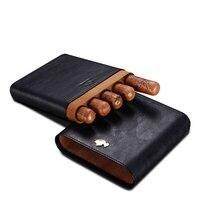 Путешествия кожаный Humidors чехол (hold 5 шт.) сигары кожа увлажняющий сумки Аксессуары для сигар курение Интимные аксессуары