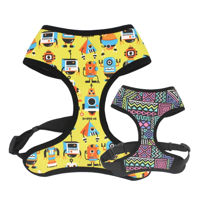 Reversible Dog Harness with neoprene breathable mesh for Small Medium Large Dogs