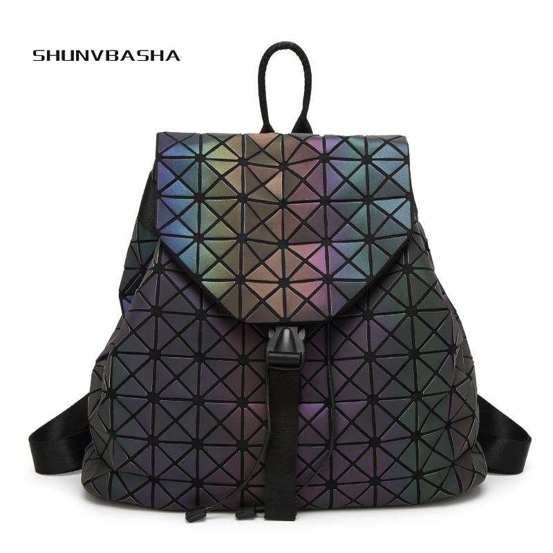 bao bao luminous laser bag backpack women luxury brand mochila holografica kanken backpack. Black Bedroom Furniture Sets. Home Design Ideas