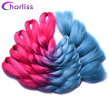 Chorliss 24″Jumbo Braids Ombre Braiding Hair Bundles Synthetic Crochet Hair Extensions High Temperature Fiber Brands