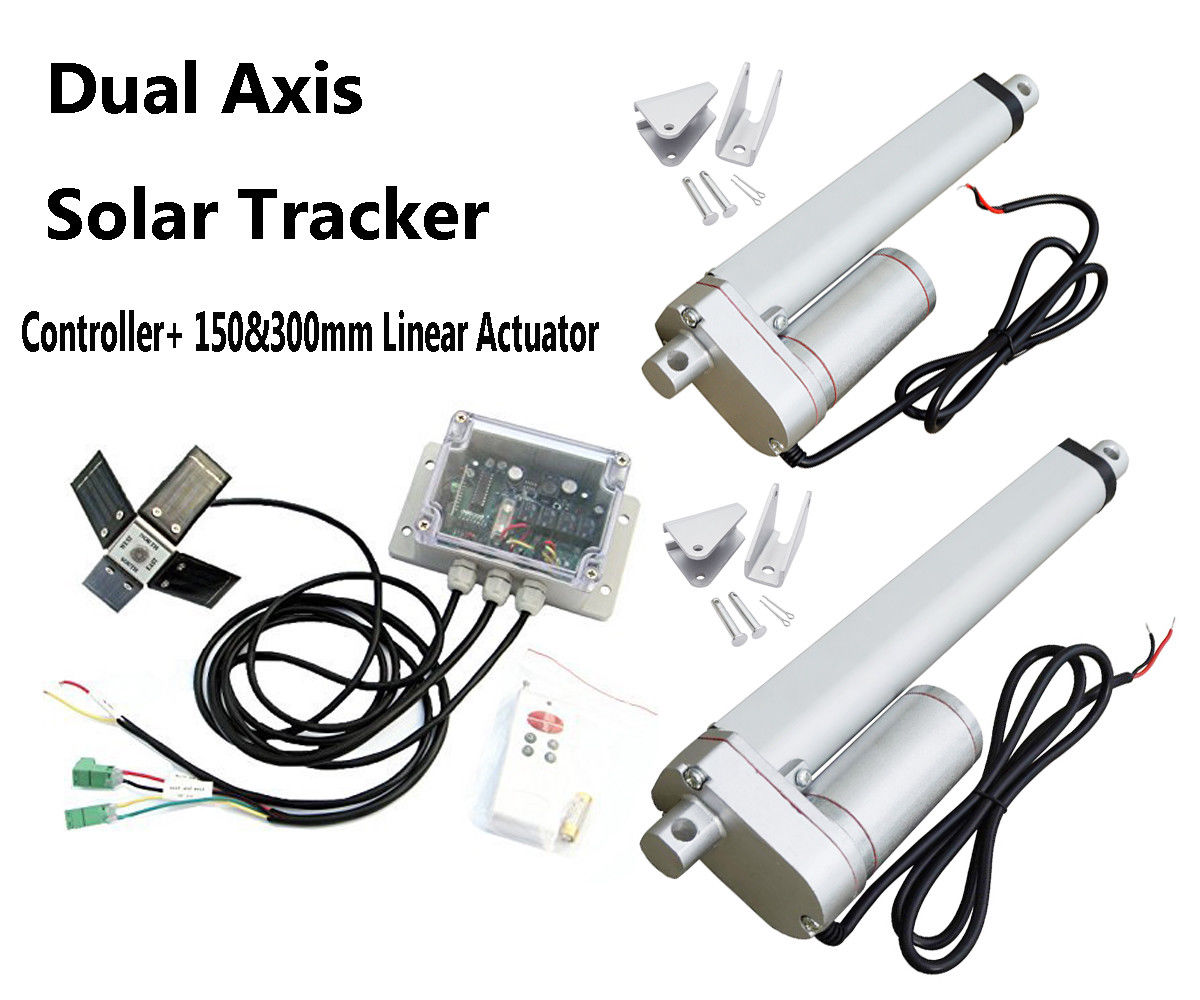 USA Stock 6 12 Linear Actuator with solar controller Dual Axis solar tracking Tracker