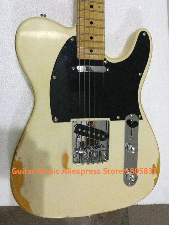 US $279 0 |Guitar Factory Newest Aged Electric Guitar Maple Fingerboard Old  Guitars HOT-in Guitar from Sports & Entertainment on Aliexpress com |