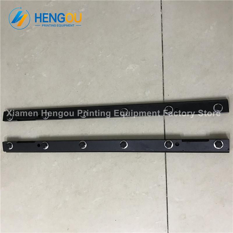 Total 3 pieces 1 Pair plus 1 Piece Left side 69.006.002F Heidelberg GTO52 blanket bar heidelberg GTO52 plate clamp 6 bolts 1 piece 00 580 4473 03 automatic air bag plate clamp for heidelberg sm52 plate clamp 00 580 4473