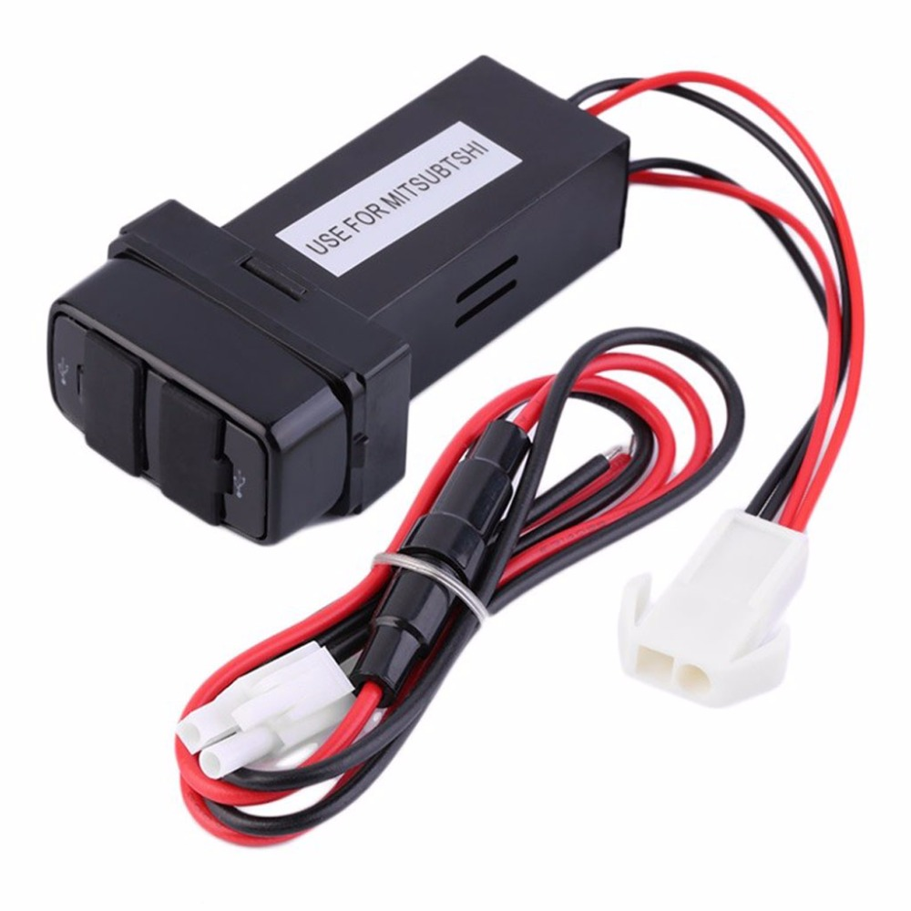 New Dual USB Ports Dashboard Mount Fast Charger 5V for Mitsubishi Car Hot Selling