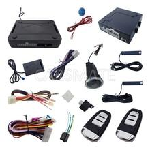 Universal Rolling Code Car PKE Alarm With Push Button Start Engine & Power Window Output Remote Lock Unlock