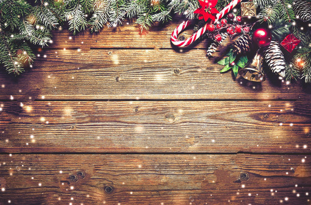 rustic christmas fir tree decoration dark wooden board photo backdrop vinyl cloth computer print wall background - Rustic Christmas Background
