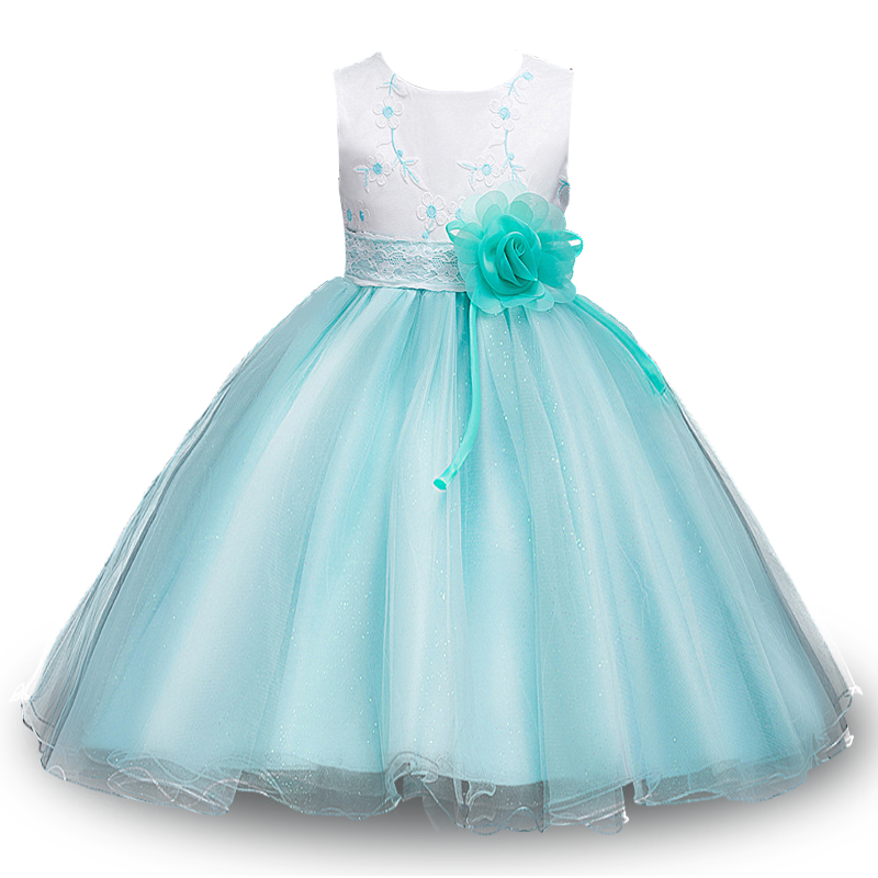 Simple Elegant 2015 Women Summer Wedding Dresses Flowing: 3 12yrs Teenagers Summer Flower Girl Dress Wedding Pageant