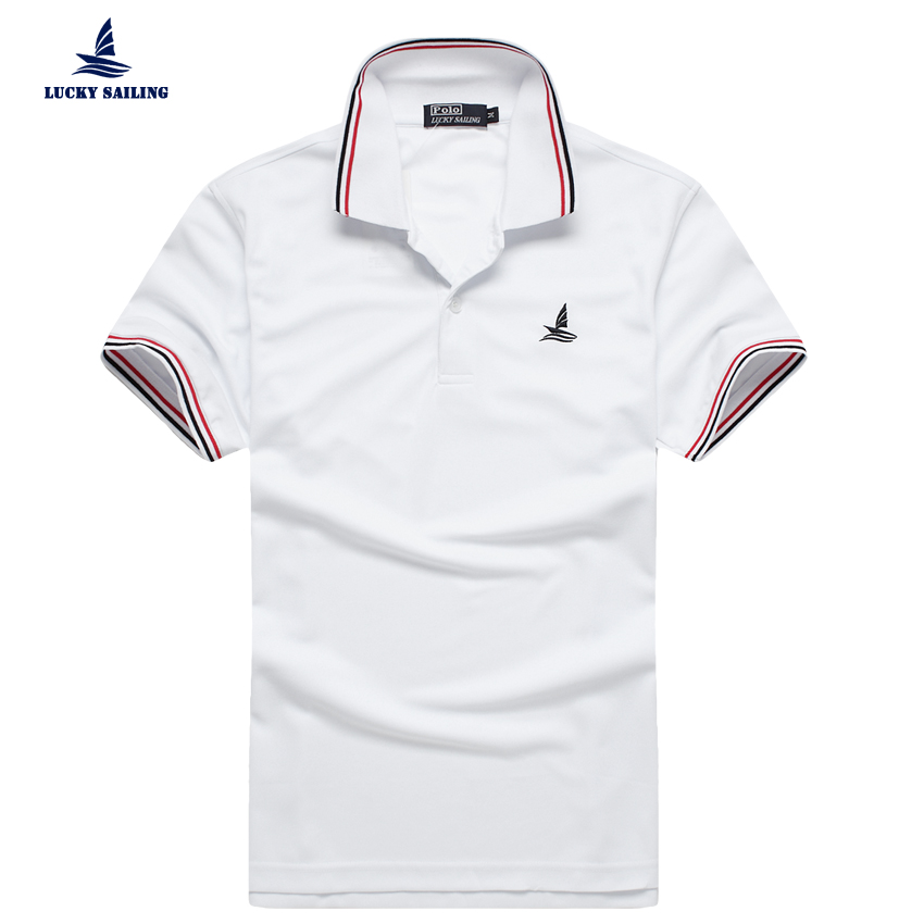 Lucky Sailing Polo 2016 New Casual Men Polo Ralph Shirt Brand Logo