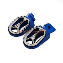 Motorcycle Billet CNC Wide Footrests Pegs Fits For Yamaha YZ85 YZ125 YZ250 YZ400F YZ450F WR250F YZ250FX