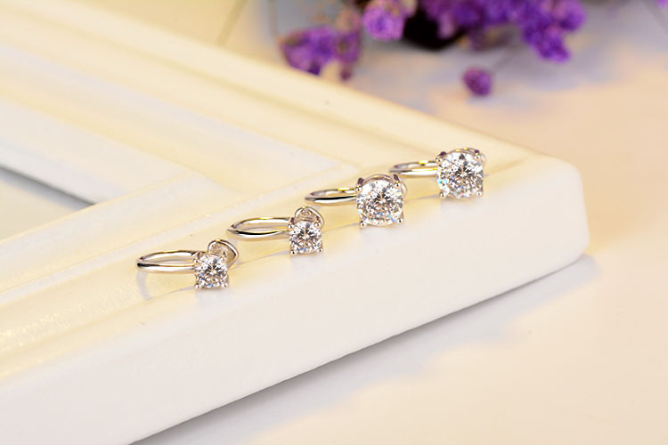 New Clip Earrings Silver-color Classic Design Earring For No Ear Hole Women Convenience Earring Fashion Jewelry Ear Clip