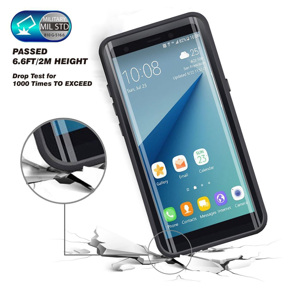 100% Waterproof Case for Samsung Note 8 Note 9 Outdoor Shockproof Case Coque Protective Case for Samsung Note8 Note9
