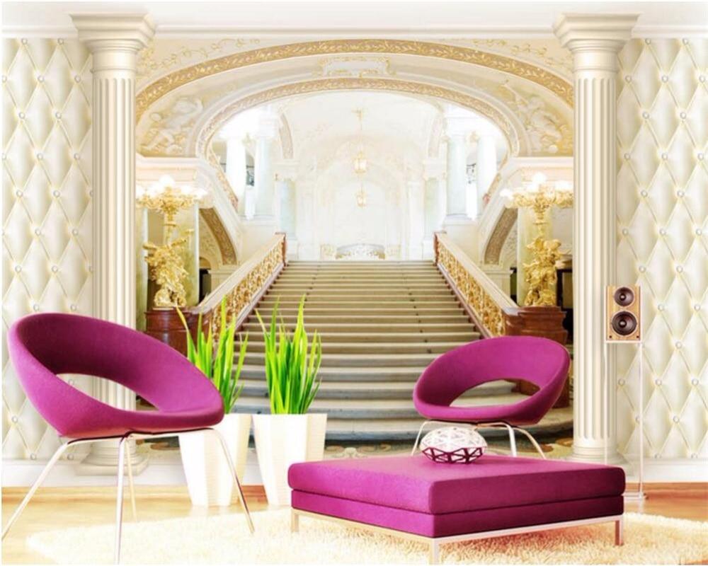 Carta Da Parati Roma us $8.1 46% di sconto|beibehang personalizzato carta da parati della  pittura di arte moderna di palazzo in stile scala roma colonna living room  divano