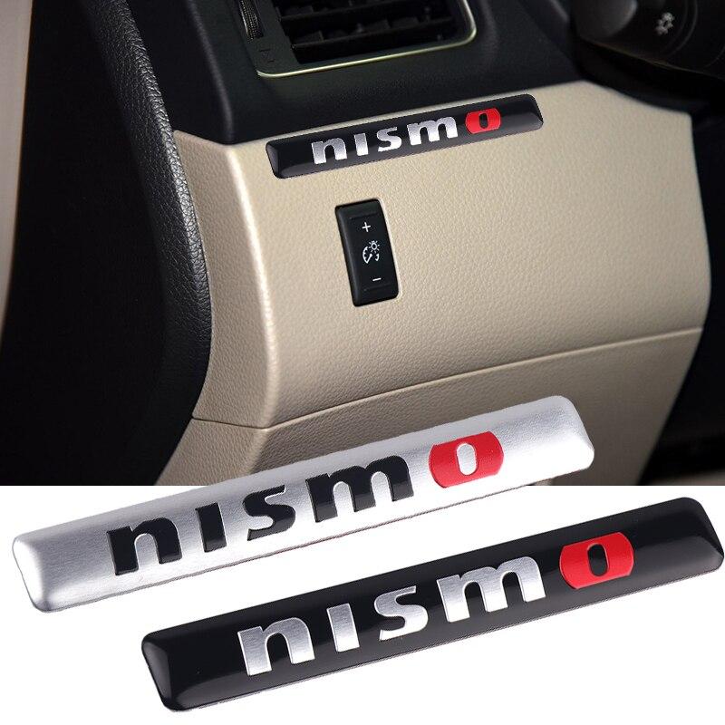 1PC Aluminum Alloy NISMO Auto Car Nismo Badge Emblem Decal Sticker For Nissan Qashqai X-Trail Juke Teana Tiida Sunny Car Styling