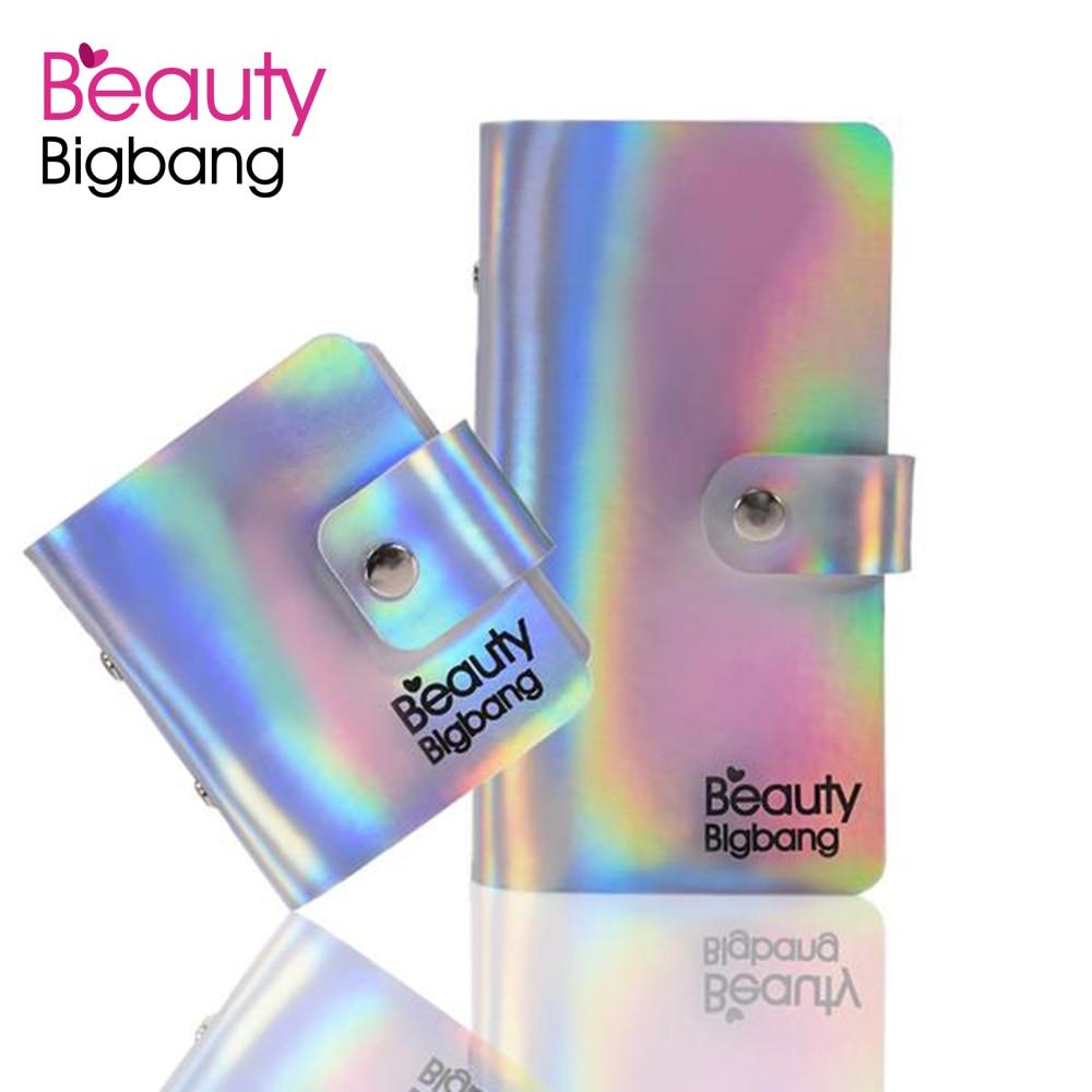 BeautyBigBang 2Pcs Nail Stamping Plate Case Nail Template Bag Rainbow Square Rectangular Holder Bag Nail Art Organizer Case in Nail Art Equipment from Beauty Health