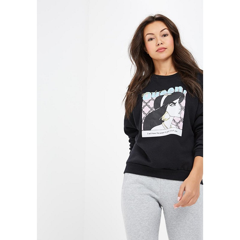 Hoodies & Sweatshirts MODIS M182W00581 hooded jumper sweater for female for woman TmallFS sweater 1100903 35
