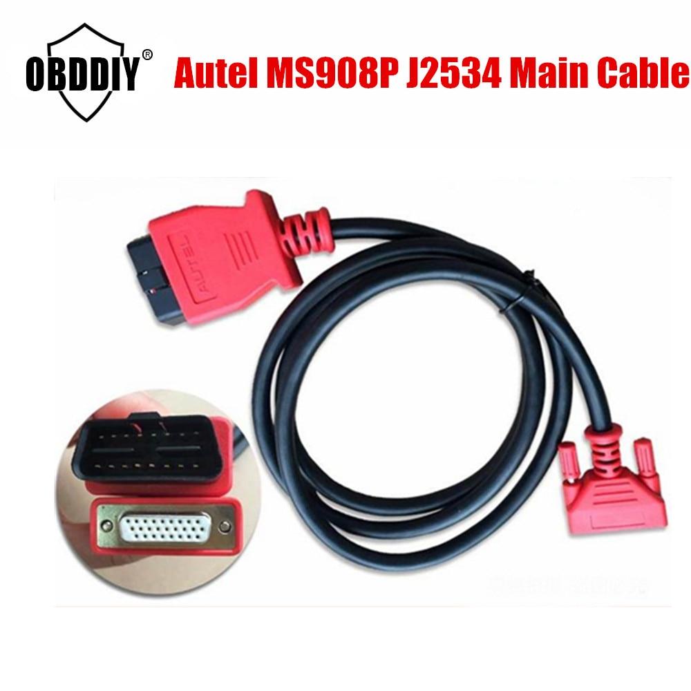 Prix pour Vente chaude 100% D'origine Autel MaxiSYS Pro MS908P AUTEL J2534 908PRO OBDII Câble Principal Test Câble Maxidas MS 908 PRO OBD 2 câbles