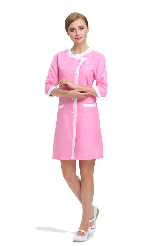 2015 oem hospital workwear nurse uniform beauty salon pink for Spa uniform policy