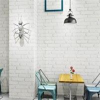 beibehang White brick background wallpaper Nordic small white brick barber shop waterproof retro white brick pattern wallpaper